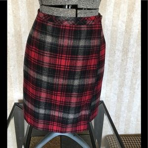 Eddie Bauer wool wrap skirt.